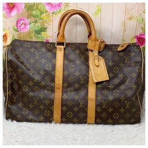 Authentic Louis Vuitton Keepall Travel Bag